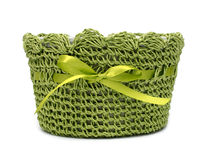 Green empty basket Stock Image