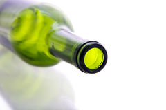Green  empty bottle Royalty Free Stock Photos