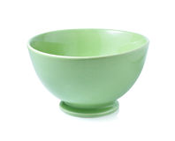 Green empty bowl Royalty Free Stock Image