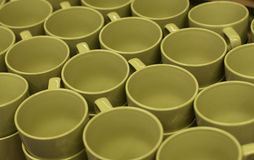 Green empty cups Royalty Free Stock Photo