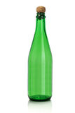 Green Empty Glass Bottle Royalty Free Stock Photo