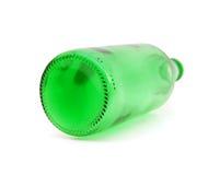 Green empty glass bottle Stock Photo