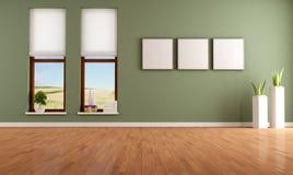 Green empty interior Royalty Free Stock Photos