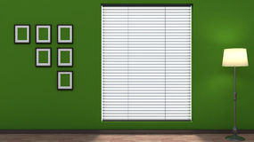 Green empty interior with blinds Royalty Free Stock Images