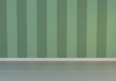 green empty interior, front view, glossy floor Royalty Free Stock Images