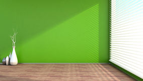 Green empty interior. And window Royalty Free Stock Image