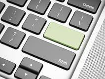 Green empty keyboard button Stock Photos
