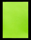 Green empty A4 paper isolated on black Royalty Free Stock Photo