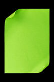 Green empty A4 paper isolated on black Stock Photos