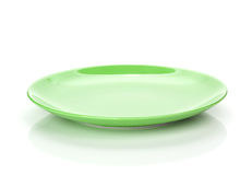 Green empty plate royalty free stock image