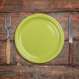 Green empty plate Stock Image