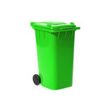 Green empty recycling bin Stock Images