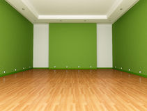 Green Empty room Royalty Free Stock Image