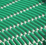 Green Empty Seats Stock Photography