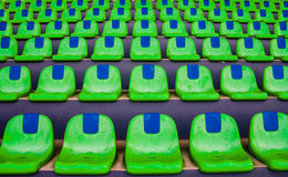 Green empty stadium seats Royalty Free Stock Photography