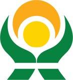 Green energy. This logo represents alternatives powers and energy Stock Photos