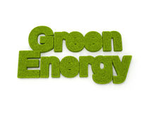 Green energy. Concept - Grass letters Stock Photo