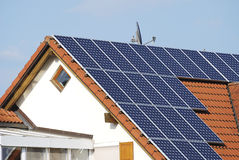 Green energy. Alternative energy at a residential house Stock Image