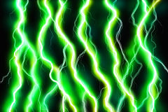 Green Energy. Sparks on nblack background Royalty Free Stock Images