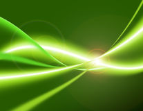 Green Energy. Electrical flow waves Royalty Free Stock Photo