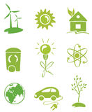 Green Energy. Set  illustration -- icons Green Energy Royalty Free Stock Photo