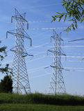 Power Line Pylons Stock Photography