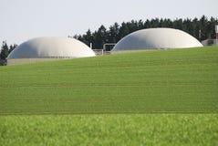 Green energy. Alternative energy production with biomass stock photos