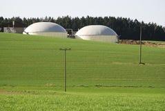 Green Energy. Alternative energy productin with biomass stock image