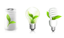 Green Energy. Electrical appliance, objects on white background Royalty Free Stock Image