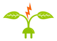 Green energy. Illustration of green energy design isolated on white background Royalty Free Stock Photo
