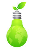 Green energy. Illustration of green energy design isolated on white background Stock Photo