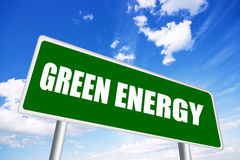 Green energy. Road sign illustration Stock Photography