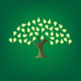 Green energy. Image of green tree with light bulbs as leaves royalty free illustration