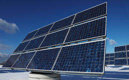 Green energy. Solar array as a power plant Royalty Free Stock Image