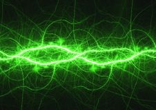 Green energy. Abstract green energy, lightning background Royalty Free Illustration