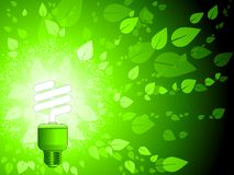 Green energy background. Green energy vector background with low wattage light bulb Royalty Free Stock Images