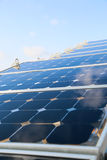 Green energy background, save energy with green energy, energy business, solar cell system and popular energy, solar cell station Stock Image