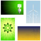 Green energy backgrounds Royalty Free Stock Photos
