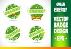 Green energy Badge Vector Stock Photo