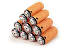 Green energy batteries concept Stock Images