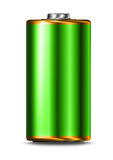 Green energy battery cell isolated. On white background royalty free illustration