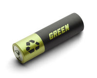 Green Energy Battery Stock Photography