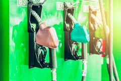 Green energy biofuel or bio diesel petrol gas station. Royalty Free Stock Photography