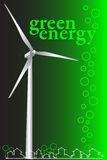 Green Energy - Brochure cover or Business card Stock Photos