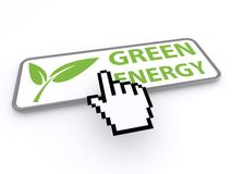 Green energy button Stock Image