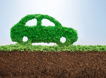 Green energy car concept Stock Images