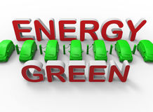 Green energy charging station Royalty Free Stock Photo