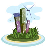 Green energy city Royalty Free Stock Photos