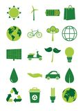 Green Energy Collection Royalty Free Stock Photography