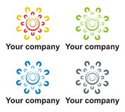 Green energy company logo. Green energy logo element in multiple colors Stock Photo